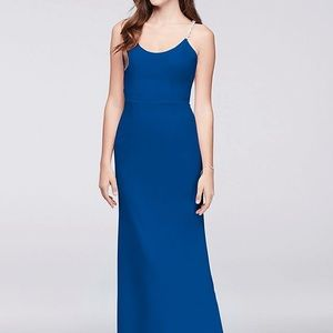 David's Bridal Royal Cobalt Blue Dress. Worn once!